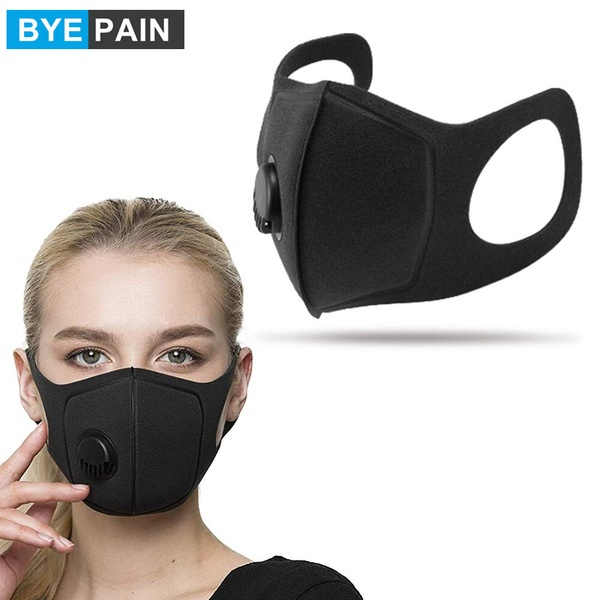 BYEPAIN Respiratory Dust Mask Upgraded Version Men & Women Anti-fog Haze Dust Pm2.5 Pollen 3D Cropped Breathable Valve Mask