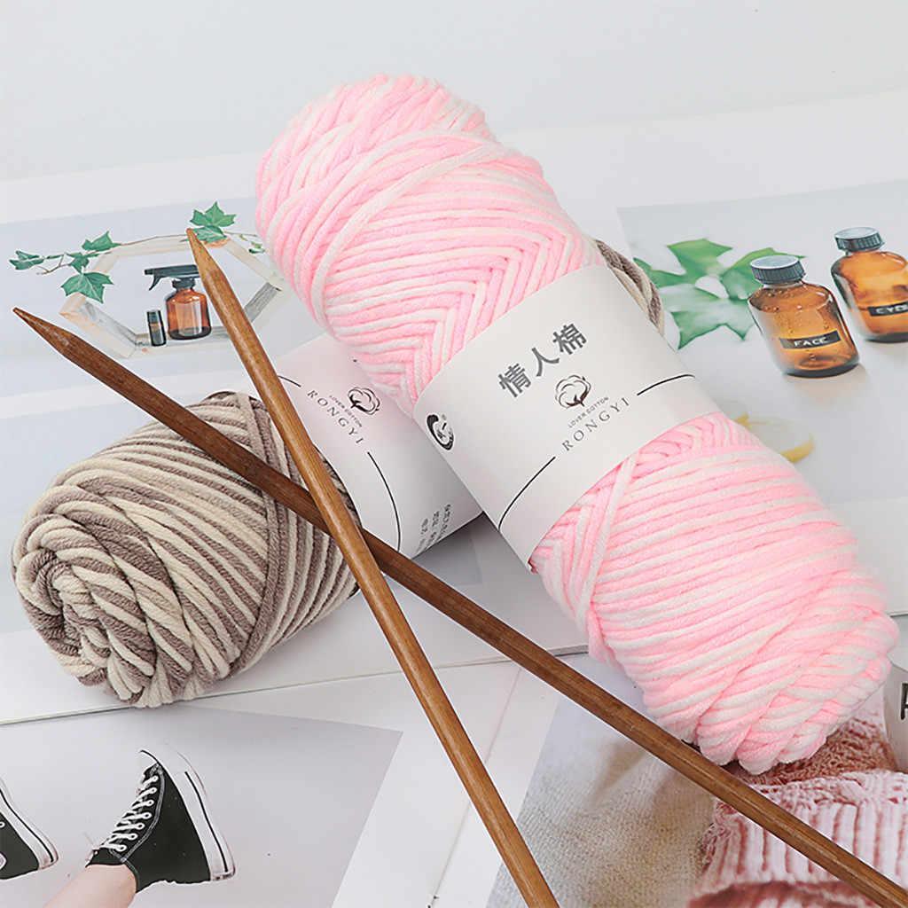 100g DIY Breien Trui Sjaal Breien Garen Hand-made DIY Sjaal Trui Jas Bar Naald Draad Babylijn dikke Wol Voor Geschenken