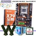 Материнская плата HUANANZHI X79  со слотом M.2  процессор Xeon E5 2680 V2  кулер ОЗУ 32 Гб (4*8 ГБ)  1600 RECC  хорошее качество