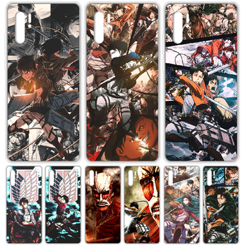 Attack on Titan Levi Rival anime Phone Case cover For HUAWEI p 8 9 10 20 30 40 P pro Smart 2017 2019 Z lite transparent prime image
