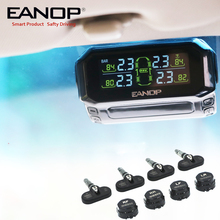 EANOP S600พลังงานแสงอาทิตย์TPMS LCDระบบตรวจสอบความดันยางยางความดันปลุก4Pcsเซ็นเซอร์PSI/BAR