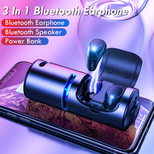 CALETOP 3 In 1 Bluetooth 5.0 Earphone 1200mAh Power Bank 3D Stereo Speaker Hifi with Microphone Handsfree Metal Shell