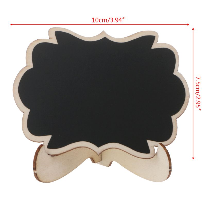 10pcs Wooden Mini Blackboard Butterfly Shape Table Sign Memo Message Stand Chalk Board Wedding Party Decoration Supplies AXYF
