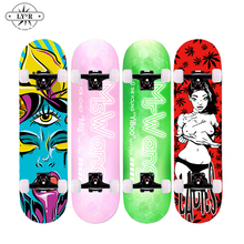 Skateboard Deck Four-Wheel New Double-Upright 80--20cm Ly--R