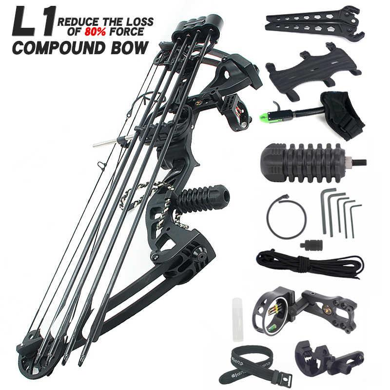 Senyawa Busur Dan Anak Panah Set 35-70 lbs Adjustable Busur Yang Kuat Berburu Outdoor Olahraga Berburu Shooting Busur Memanah Aksesori