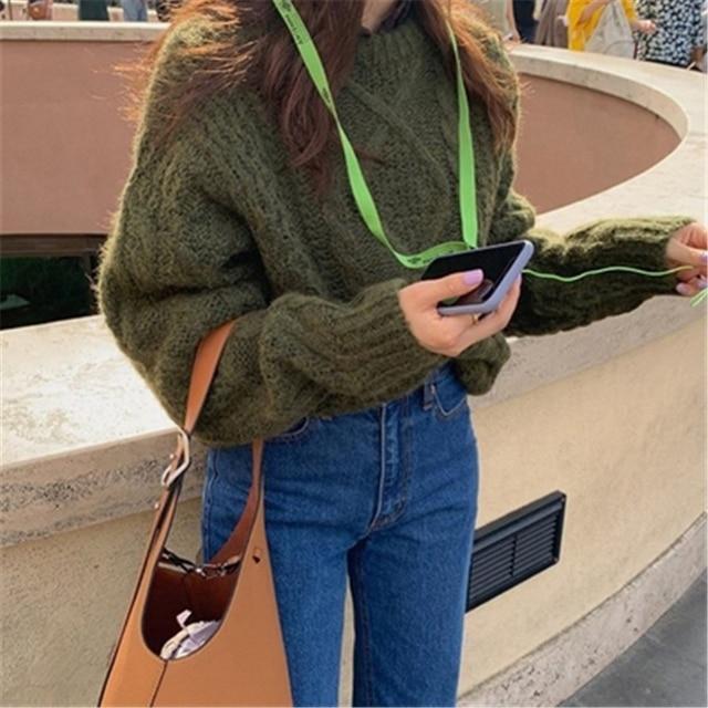 Фото новые женские свитера из мохера осень зима новые винтажные повседневные цена