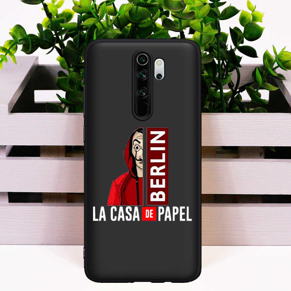 2020 etui na telefon do Xiaomi Mi 9T Redmi Note 5 6 7 8 K20 K30 9T Pro silikonowe hiszpania TV La Casa de papel pieniądze Heist dom papier