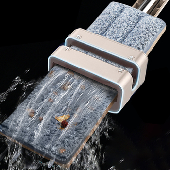 Self-Wringing Free Hand Washing Flat Mop Spin 360 Rotating Wooden Floor Mop Cleaner Household Cleaning Tool Microfiber Pad