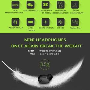 Image 4 - M & J Mini iş kablosuz bluetooth kulaklık taşınabilir Handsfree kulaklık spor sürücü kulaklık için Mic ile Xiaomi Iphone