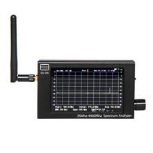 Analisador de espectro gs100 35-4400mhz tft lcd tela portátil analisador de espectro caixa de alumínio ferramenta de utilidade multifuncional