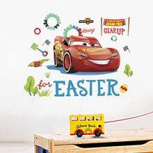 Disney Super Cars Lightning McQuee Wall Stickers Kids Room Boy room accessories Wallpaper Decor