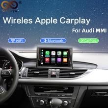 2020 IOS سيارة أبل Airplay أندرويد السيارات اللاسلكية CarPlay صندوق لأودي A3 A4 A5 A6 Q3 Q5 Q7 ترقية الشاشة الأصلية نظام MMI