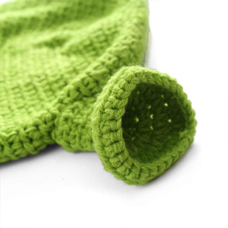 Unisex pasamontañas Monster sombrero Shrek lana invierno sombreros de Punto Verde fiesta gorro gracioso gorra de Skullies para Mujeres Hombres pura hecha a mano