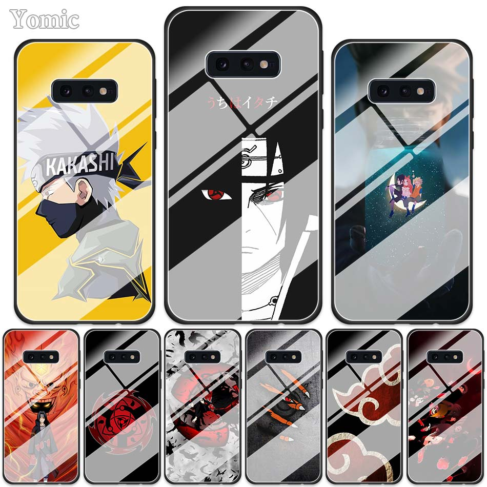 Naruto Kakashi Japanese anime Tempered Glass Phone Cases for Samsung Galaxy S20 S10 S10e S9 S8 Note 10 Plus A50 A70 Cover image