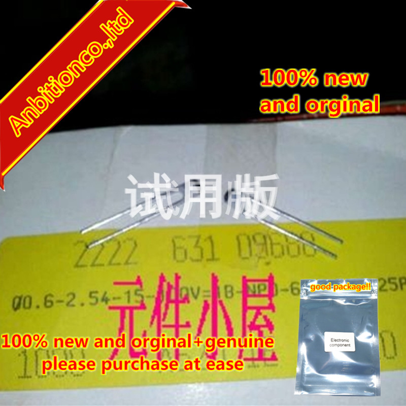 10pcs 100% New And Orginal 100v6.8 P 0.25% Pitch 2.54 Mm BC High Precision Silver Film High Frequency Capacitor MADE IN In Stock