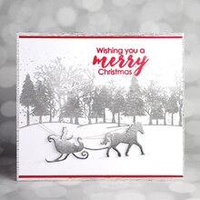 Christmas Elements Kids Playing Snow Horse House Building Metal Cutting Die DIY Scrapbooking Paper Cards Cut Dies 2019