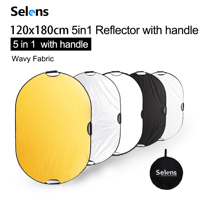 Selens 120x180CM 5 in 1 Reflector Photography Portable Light Reflector with Carring Bag for photography photo studio accessories