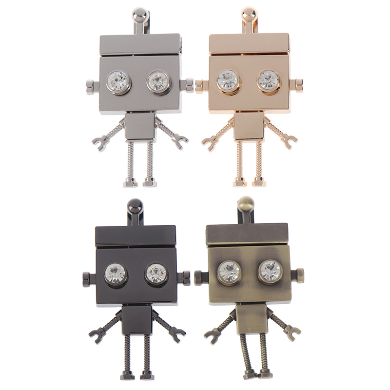4Colors Robot Shape Clasp Turn Lock Twist Locks Metal Hardware For DIY Handbag Shoulder Bag Purse