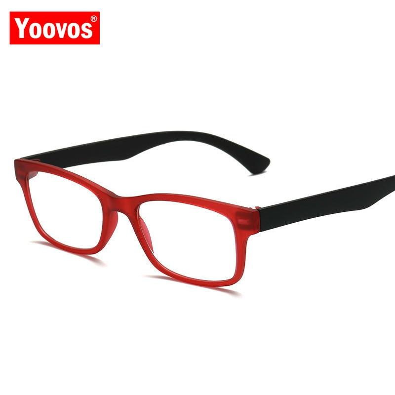 Yoovos 2020 Reading Glasses For Women 2020 Blue Light Men Eyeglasses Square Retro Eyewear Anti-Fatigue Lunette De Lecture Homme
