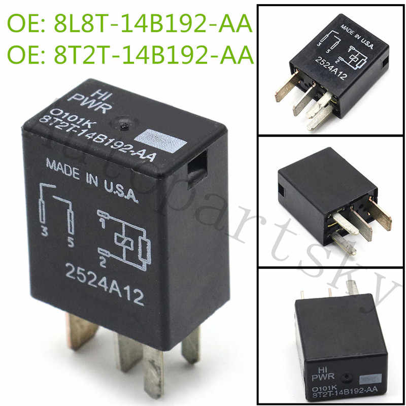 1PC #OEM Relay 8T2T-14B192-AA Hight Power Relay 8T2T14B192AA 8T2T 14B192 AA 8T2T14B192-AA O101K