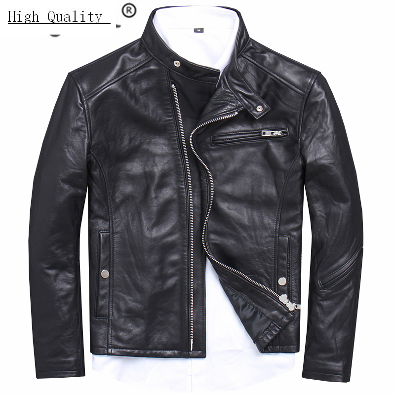 100% Genuine Leather Jacket Men Fashion Streetwear Real Sheepskin Coat Winter Cloth 2020 Motorcycle Leather Jackets 1808
