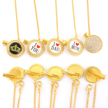 Bling Bling Pacifier Clip For Baby Bling Pacifier Chain Luxury Dummy Chain With Diamond For Infant