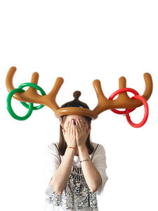 Game-Supplies Inflatable Family Christmas-Toys Ring PVC Antler-Hat Toss Reindeer Funny