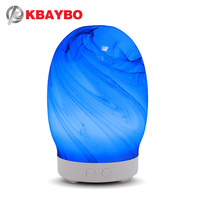 2019 Glass 100ml Aroma Air Humidifier Essential Oil Diffuser Aromatherapy Electric Diffuser Mist Maker for Home with 7 LED light