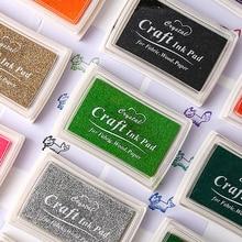 15 Inkpad Colors DIY Craft Inkpad Handmade Oily Rubber Stamp Fabric Wood Paper Scrapbook Inkpad Stamping Tool