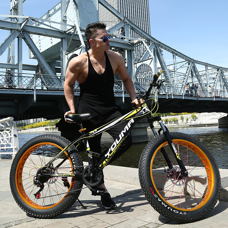 4.0 Super Wide Off-road Beach Bike Big Tire Snowmobile Speed Mountain Bike Male And Female Students Adult