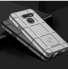Shockproof Case For LG G8 case G8s ThinQ Silicone Military style protective mobile phone CASE For LG V50 case V40 G8X ThinQ tanie tanio Whyes Aneks Skrzynki Militaty Heavy Duty Shockproof Case Matowy Zwykły Heavy Duty Ochrony Rugged Shield Armor Case Military Protection
