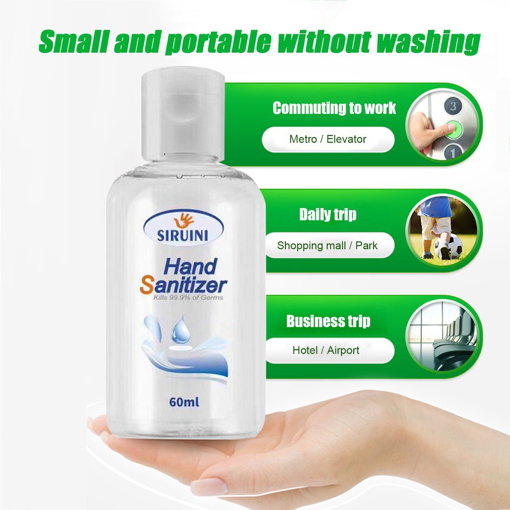 60ml Alcohol Disposable Disinfection Hand Sanitizer Sterilization Antibacterial Quick-drying Portable Gel Scientific Disinfect