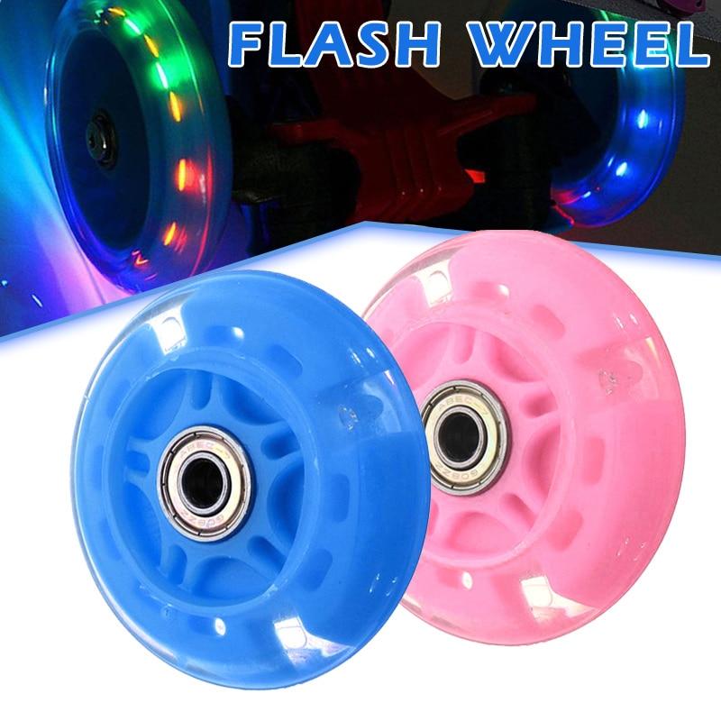 2019 Hot 4 Pcs Inline Skates Wheels Flash Light Up With Magnetic Core Sliding Roller Skating N66