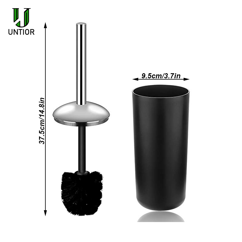 Image 4 - UNTIOR 6 Pcs Plastic Bathroom Accessories Set Toothbrush Holder Toothbrush Cup Soap Dispenser Soap Dish Toilet Brush Trash Can-in Bathroom Accessories Sets from Home & Garden