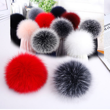 Real Rabbit Fur Fluffy Pom Keychains Soft Ball Pompom Key Chains Women Bag Pendant Jewelry Diy