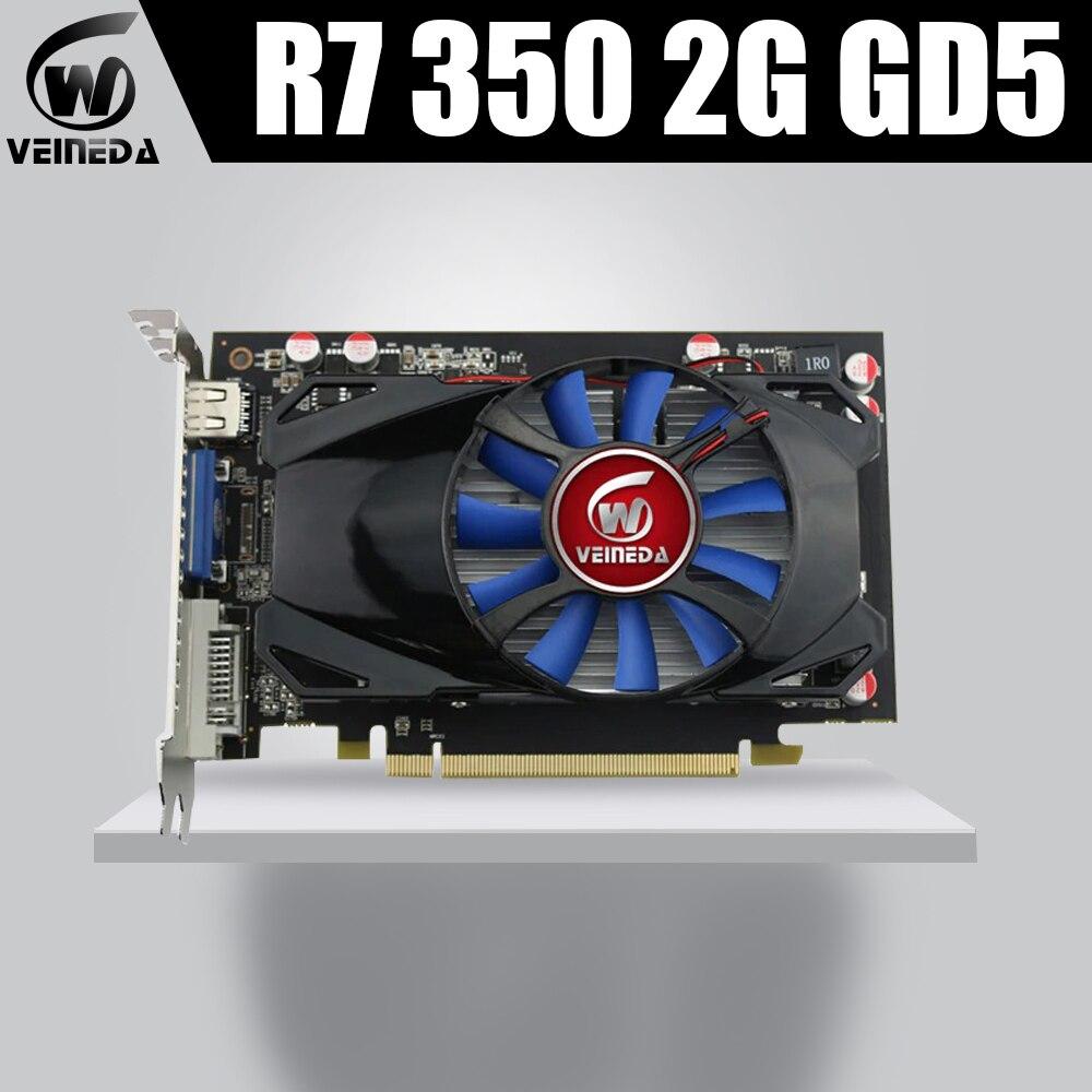 Graphics Card Veineda R7 350 2GB GDDR5 128Bit VideoCard GraphicsCardsFor NVIDIA Geforce 2GB R7 350