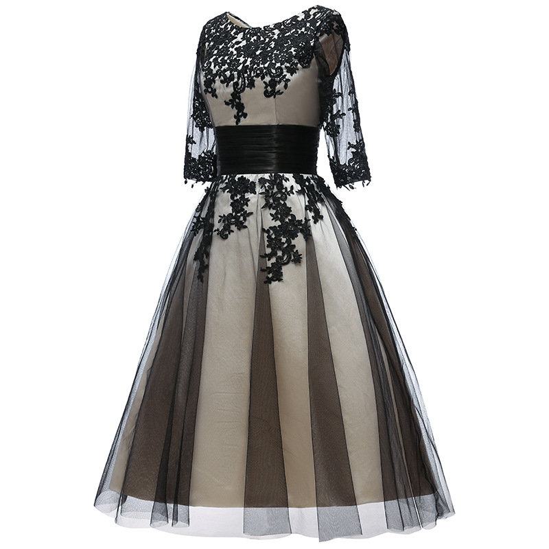 Plus Size A Line Applique 3/4 Sleeve Formal Mother Of The Bride Dress Outfits With Jacket Knee Length Off The Shoulder