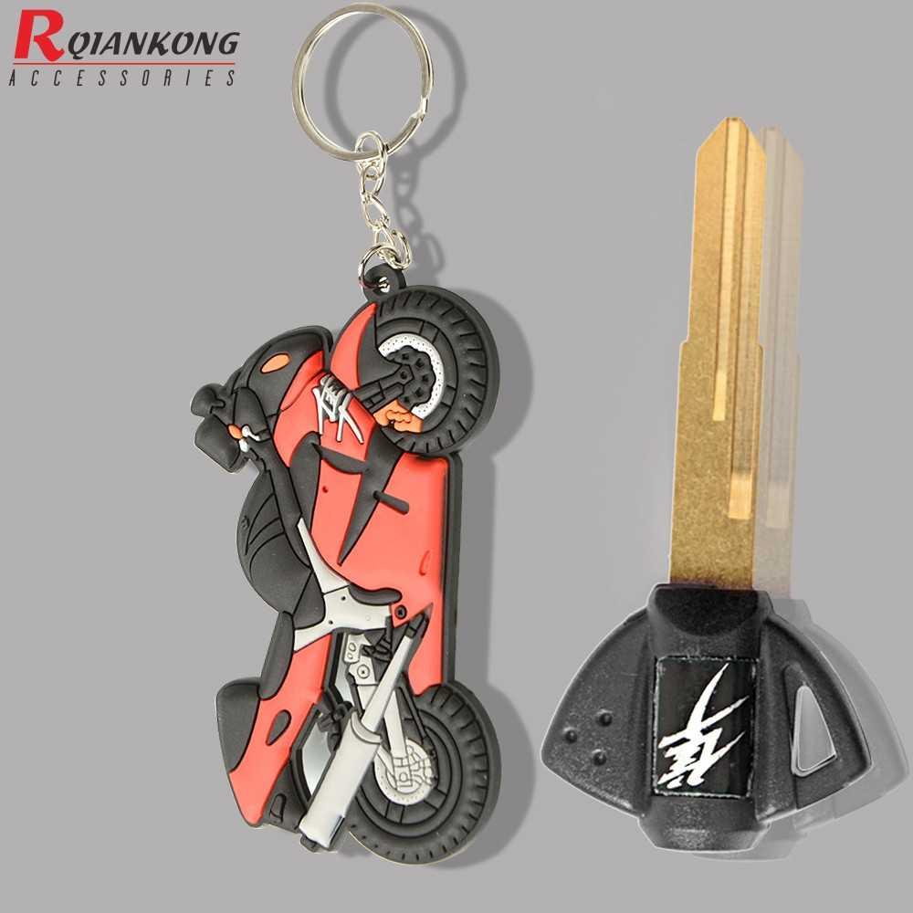 รถจักรยานยนต์รุ่น Keychain พวงกุญแจ Keyring Key CHAIN Key Ring อุปกรณ์เสริมปุ่มตัวอ่อนนุ่มยางสำหรับ Suzuki Hayabusa GSXR 1300