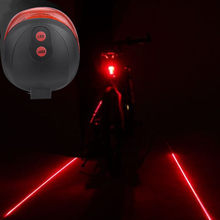 Cycling Bike Bicycle 2 Laser Projector Red Lamps Beam and 3 LED Rear Tail Lights 2020 Multifunction Practical Tool Parts(China)