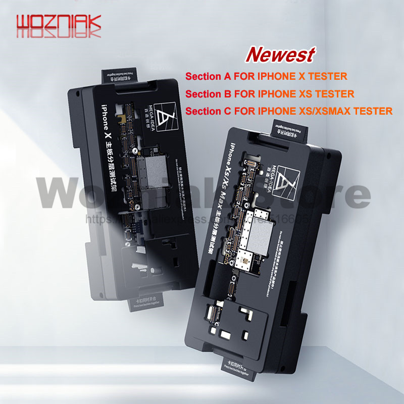 QIANLI Manufacture MainBoard Layered Testing Frame For IPhone X XS MAX Middle Level Radio Frequency Logic Board Function ISocket