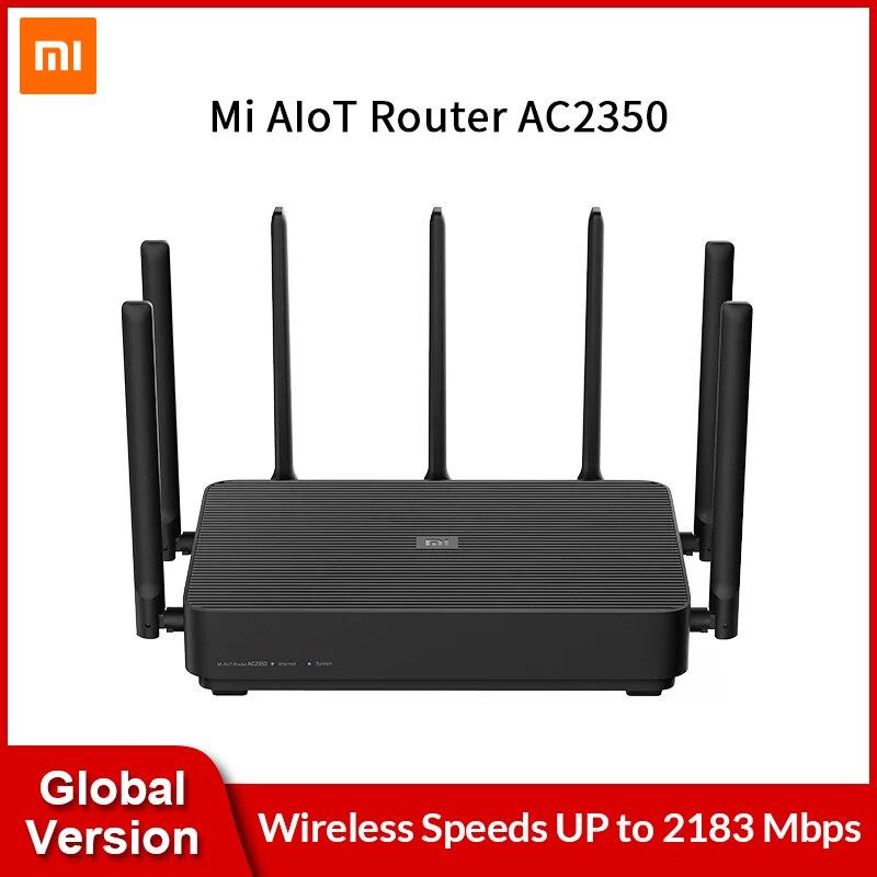 Глобальный маршрутизатор Verison Xiaomi Mi AIoT AC2350 Gigabit 2183 Мбит/с двухдиапазонный беспроводной маршрутизатор Wi-Fi Mi с 7 антеннами с высоким коэффициен...