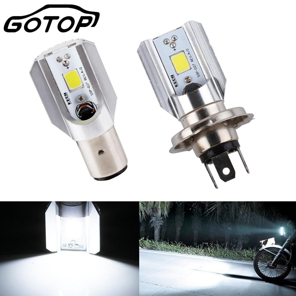 1pcs H6 BA20D Motorcycle Headlight Bulb H4 HS1 Led Motorbike Scooter Accessories COB Led 1000LM Hi Low Lamp For Suzuki For Honda|  - title=