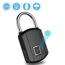 BESDER Fingerprint Lock Keyless USB Rechargeable Door Lock Quick Unlock Metal waterproof Smart Padlock for Bag Drawer Suitcase(China)