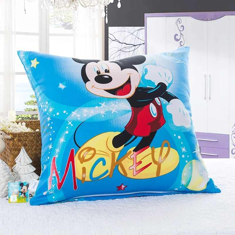 Topolino E Minnie Mouse Cuscino Quadrato per Il Capretto Arredamento Camera da Letto di Cotone Borsette Della Copertura Posteriore Del Cuscino Coperture per Cuscini Letto per Bambini Del Bambino ragazza