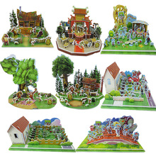 צמחים לעומת זומבים 3D נייר פאזל דגם צעצוע מתנות צעצועים לילדים באיכות גבוהה