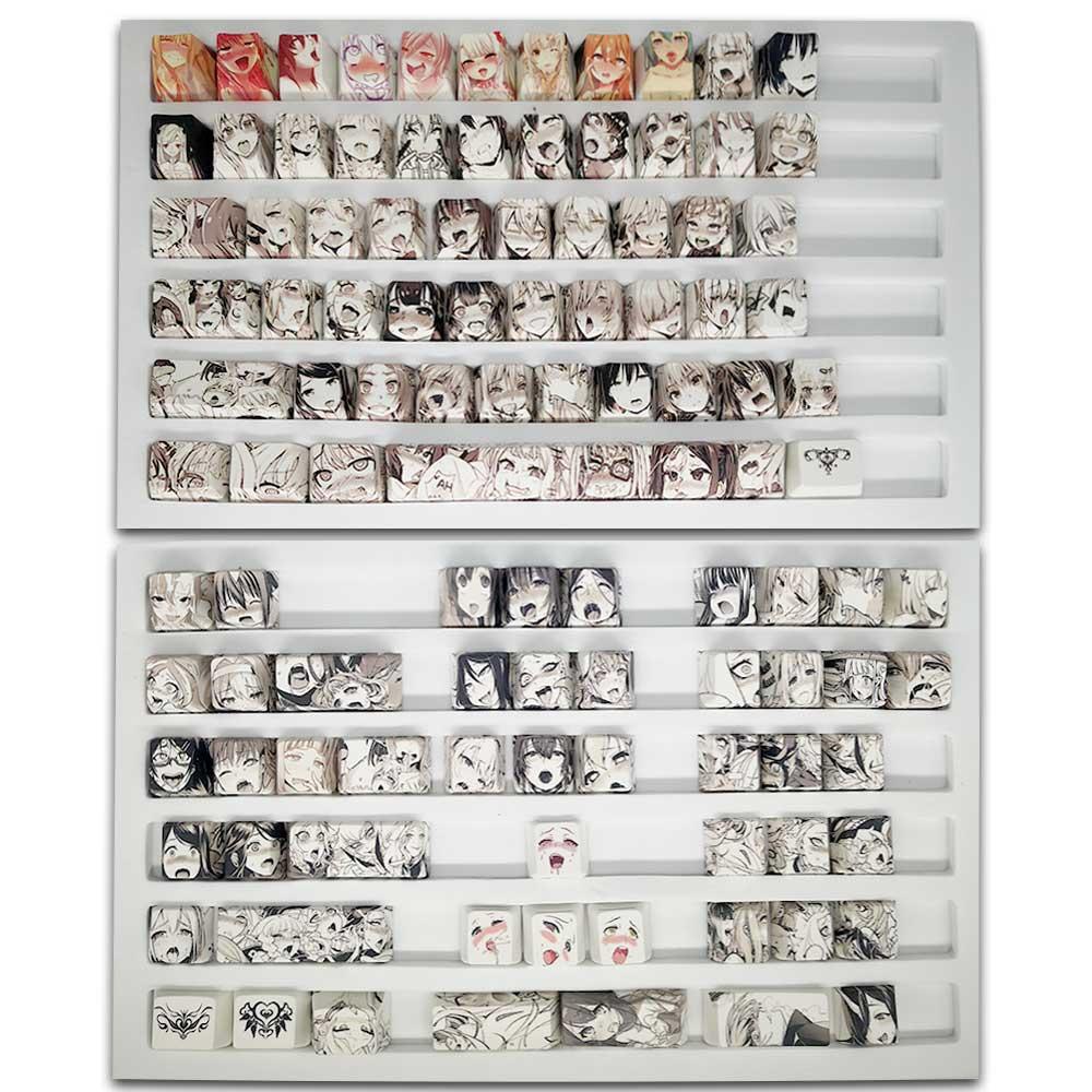 Колпачки для клавиш 108key pbt ahegao сублимационная печать