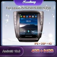Kaudiony Tesla Stil Android 10,0 Auto Radio Für Lexus IST IS250 IS300 IS350 Auto Multimedia Player Auto GPS Navigation 2005 2011