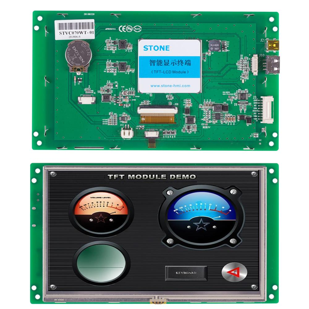 STONE 7.0 Inch HMI TFT LCD Display Module with High Brightness+Software for Equipment Use