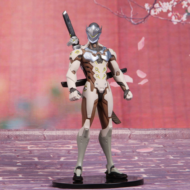 18cm Anime Game OW Overwatches Ninja Shimada Genji Joints Moveable PVC Action Figure Model Toys Doll Gift