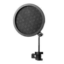 PS-2 doble capa micrófono de estudio Mic Pantalla de viento Pop filtro giratorio montaje máscara Shied para grabación de habla